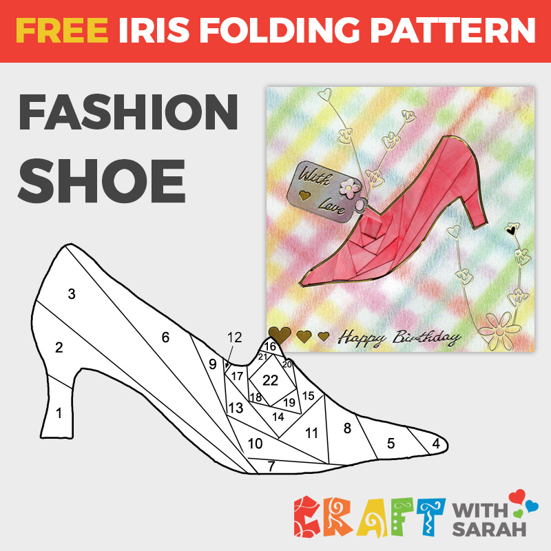 Fashion Shoe Iris Folding Pattern