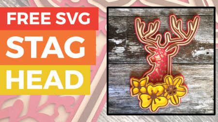 Free Woodland Stag Layered SVG