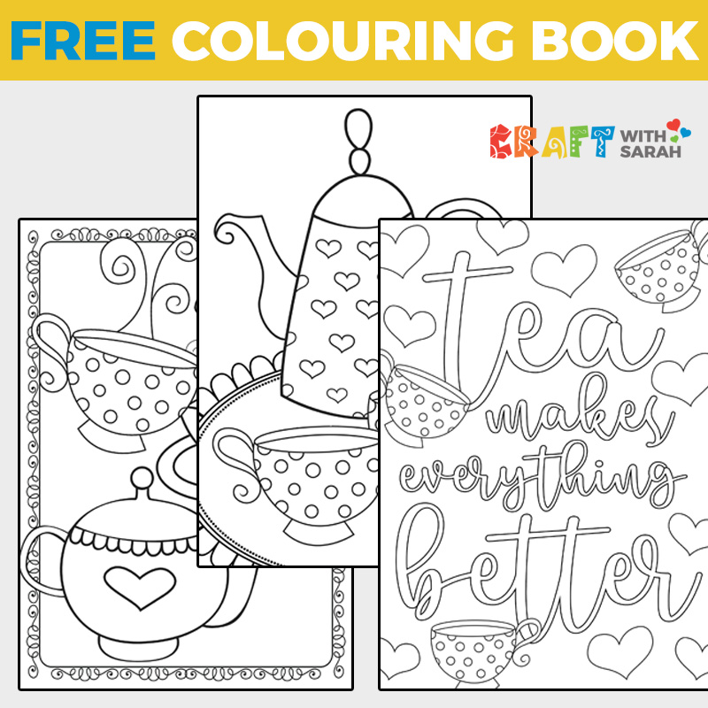 Time for Tea Coloring Book