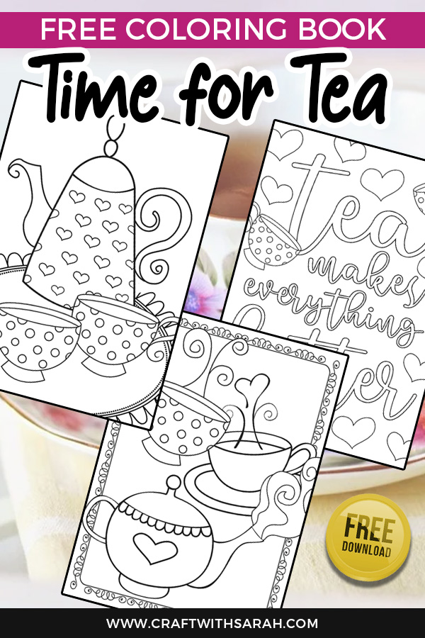 Free tea party colouring pages. Download this vintage tea set coloring page collection today! #coloring #coloringpages