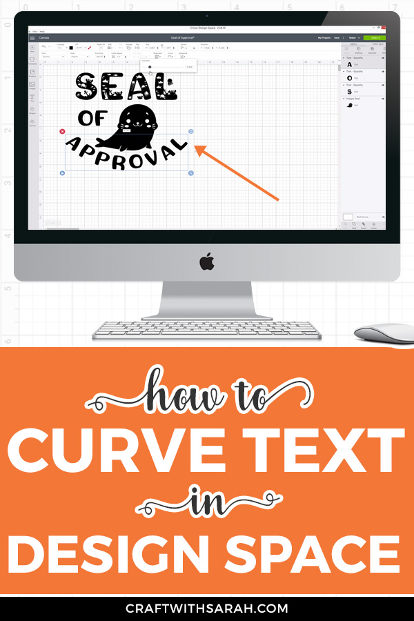 VIDEO: Curving text in Design Space. Watch this quick 2-minute video to learn how to curve text in Design Space. #designspace
