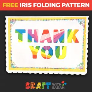 Thank You Iris Folding Pattern