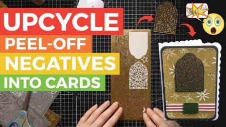 Transfer Peel Off Sticker Negatives onto Cards
