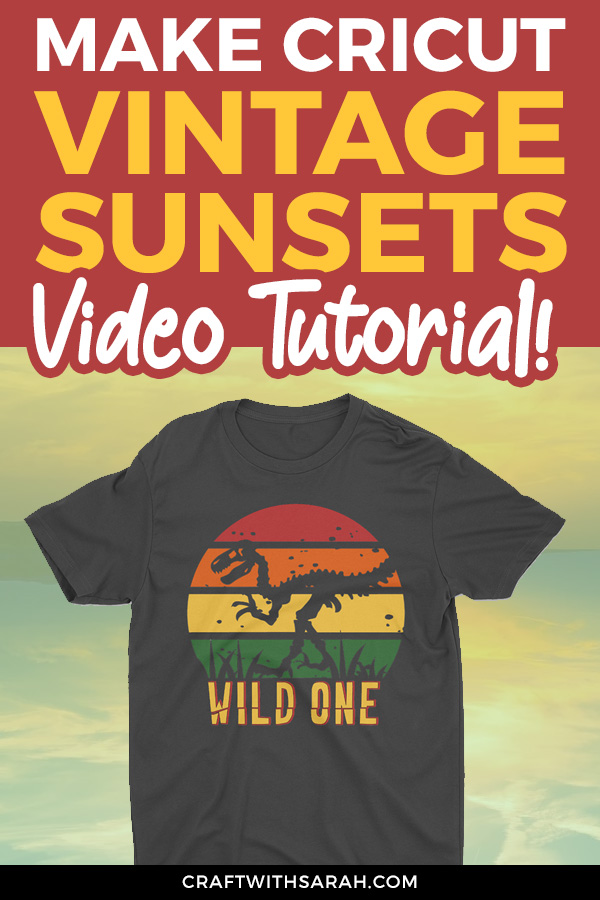 Video tutorial on how to create a retro sunset design. Design your own retro sunset SVGs to make vintage sunset t-shirts directly in Cricut Design Space.
