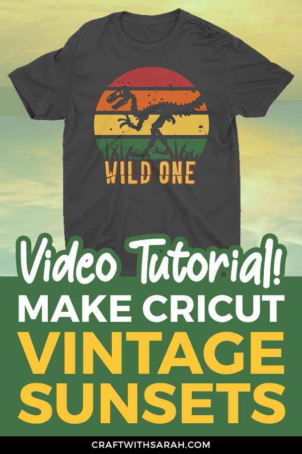 How to make distressed vinyl vintage sunset designs for t-shirts to make on Cricut machines. Free Design Space VIDEO tutorial! #cricut