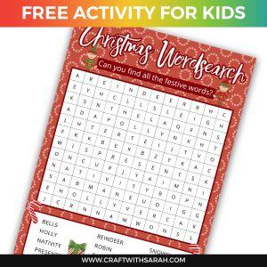 Christmas Wordsearch Printable