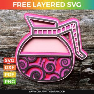 Jug of Coffee Layered SVG