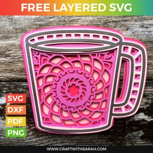 Coffee Mug Layered SVG