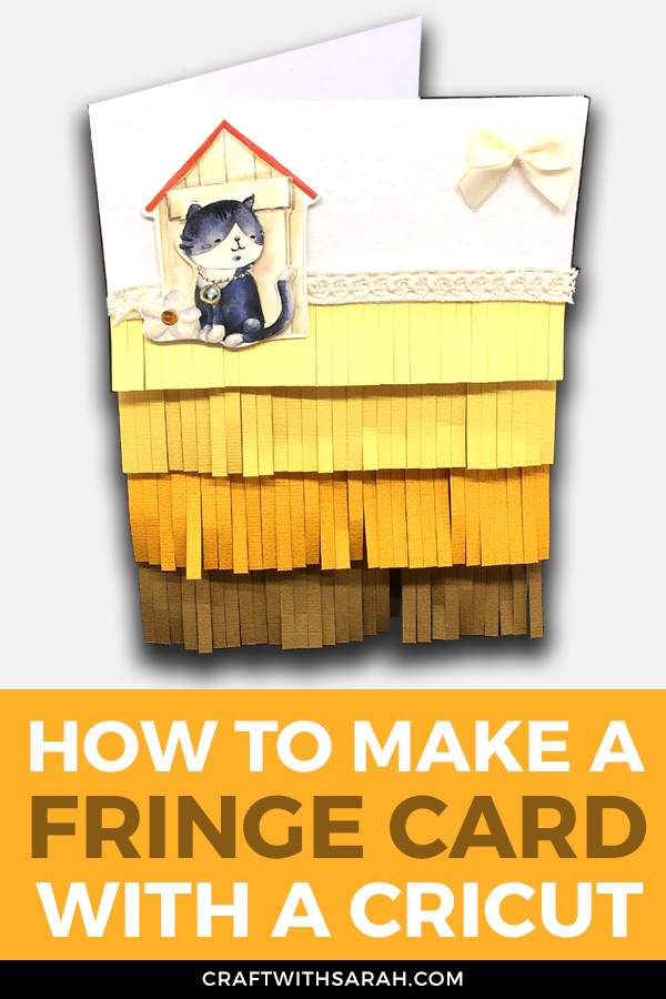 This Fringe Card is so much fun to make and it looks stunning! Craft something unusual but BEAUTIFUL in this card making tutorial.