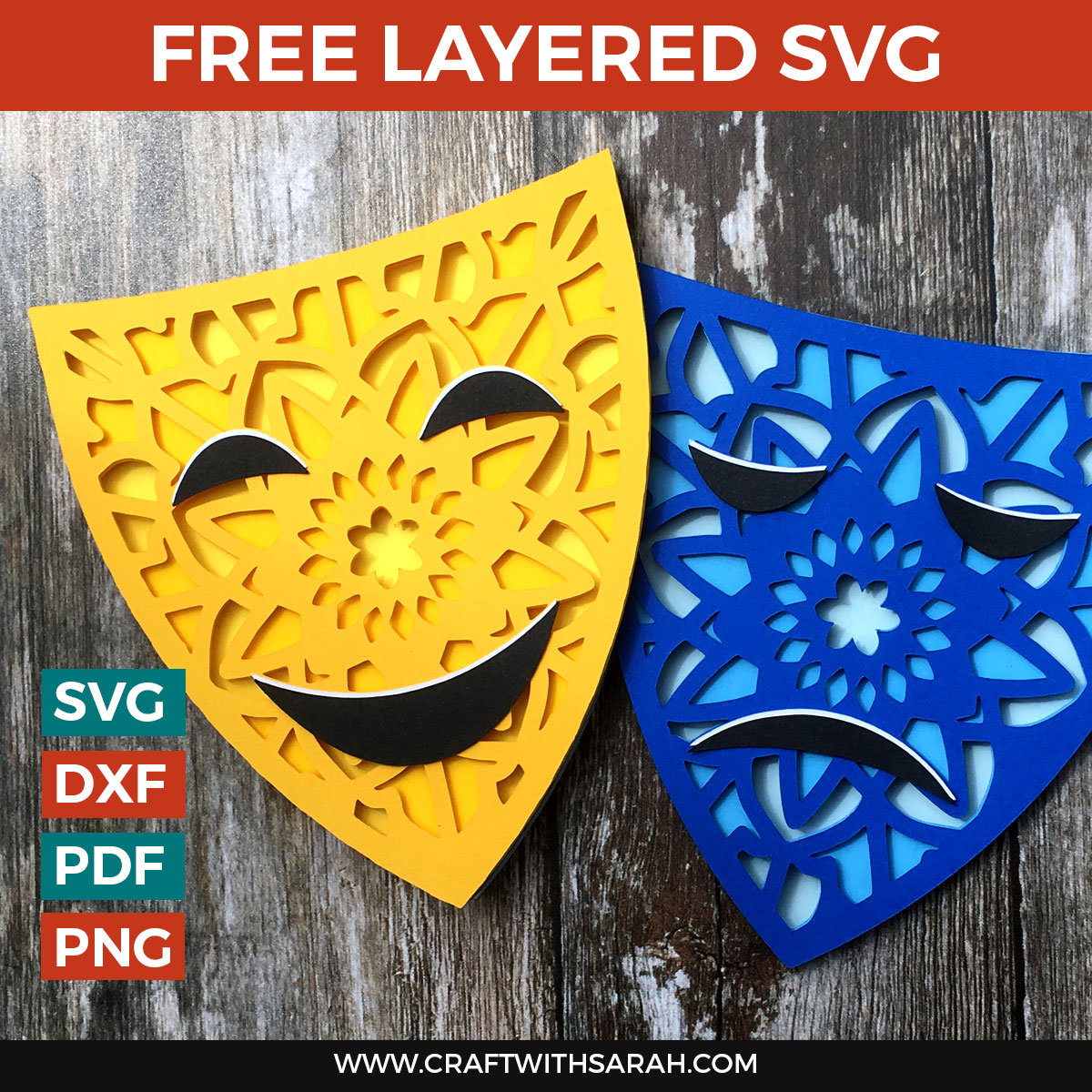 Happy Sad Drama Masks Layered Svg Craft With Sarah See more ideas about drama masks, theatre masks, drama. happy sad drama masks layered svg