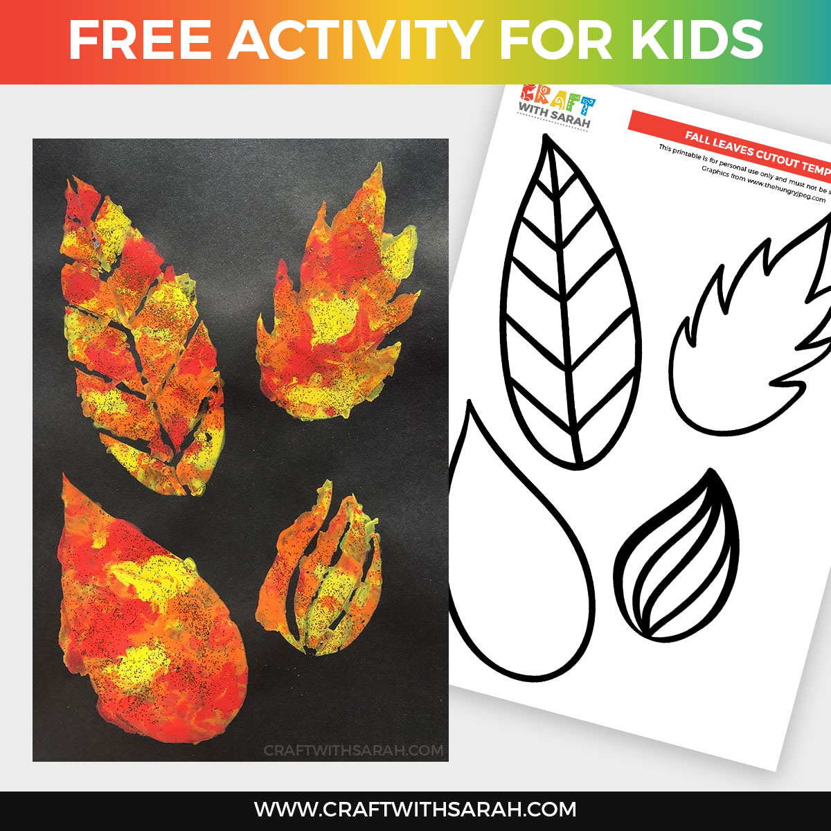 Fall Leaves Painting Craft for Kids