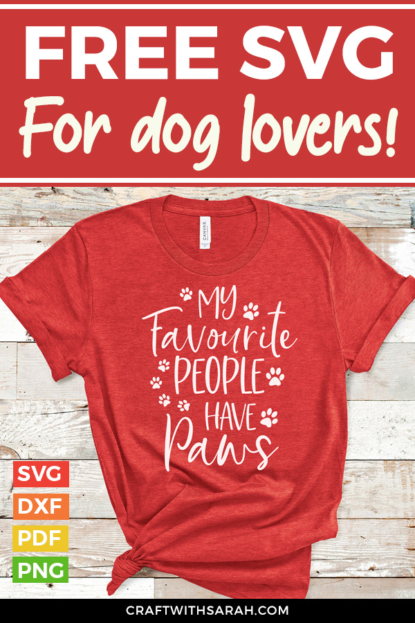 My favourite people have paws free SVG t-shirt design