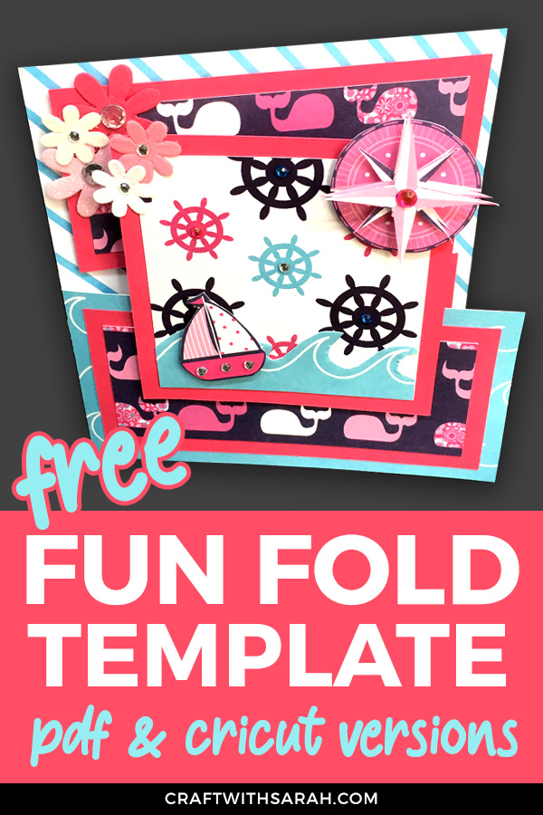 Make a card with a difference with this fun fold tutorial. An easy over-the-edge card design to make today! #cardmaking #crafts