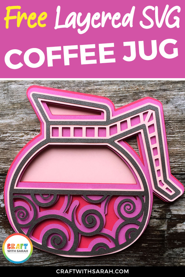 Free mandala coffee jug SVG for Cricut and Silhouette machines. Filter coffee SVG. Enjoy your coffee! #cricut