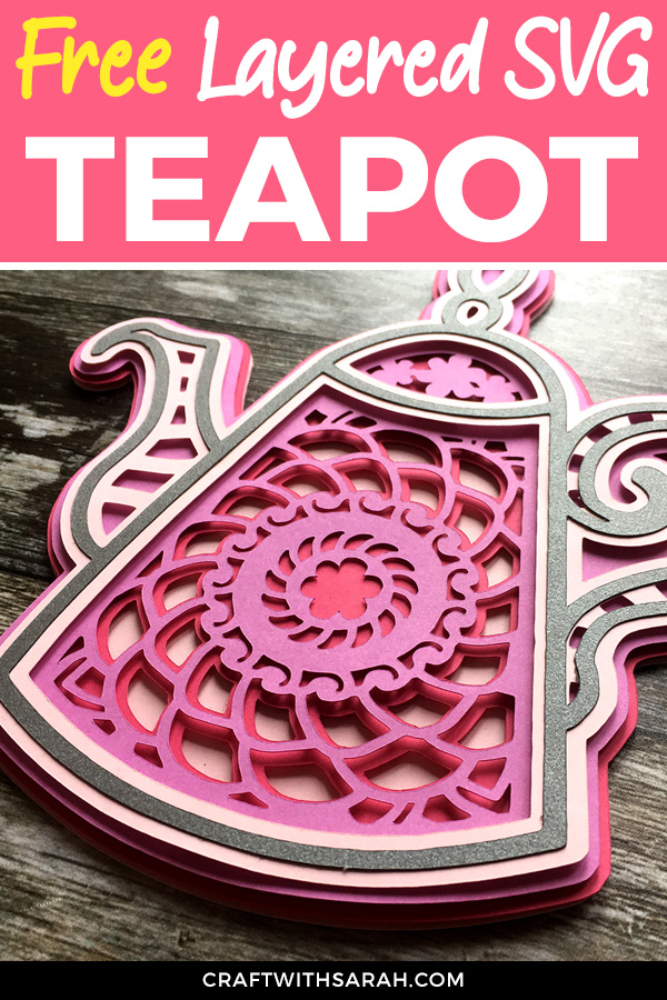 Free mandala teapot SVG to download for Cricut and Silhouette machines. Get your free 3D teapot SVG today!
