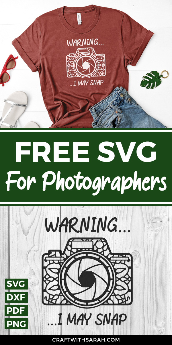 Free funny SVG for photographers. Photography SVG with mandala camera design