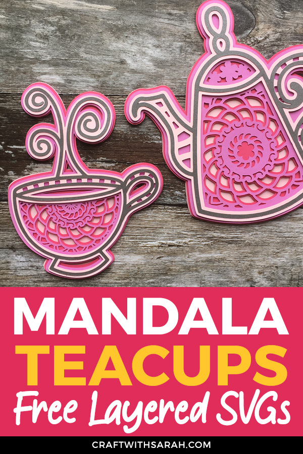 5 Free Tea & Coffee Layered Mandala SVG Files