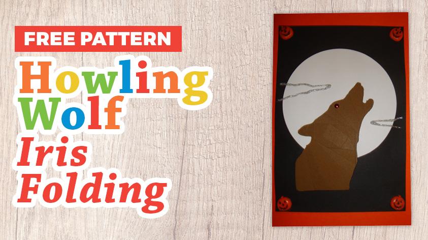 Free wolf iris folding pattern