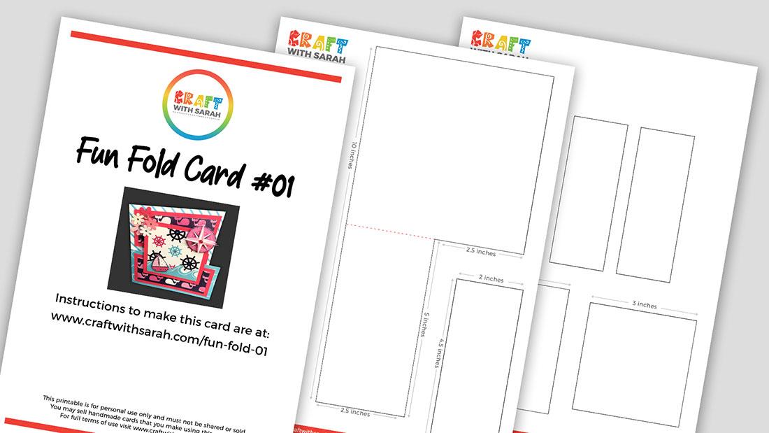 Fun fold template free PDF