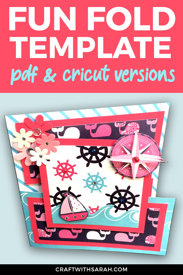 Download the FREE template to make this fun over-the-edge fancy fold card. Cricut and pdf version included, so you can make this with OR without a cutting machine! #cricut
