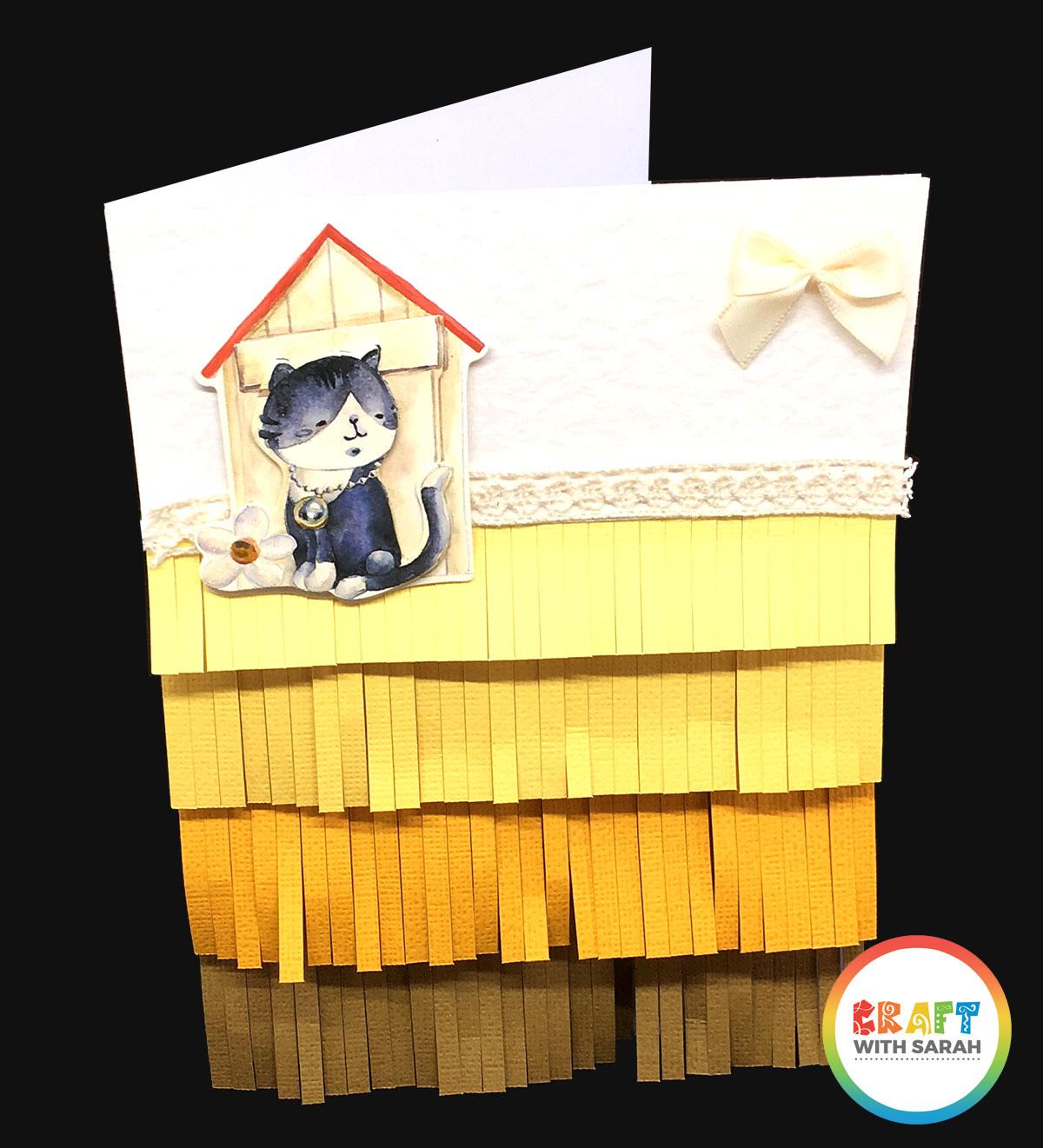Handmade fringe card