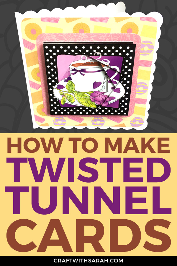 Make your own twisted tunnel topper greetings cards with this easy-to-follow video tutorial. Full materials list included. Learn a new card making technique today!