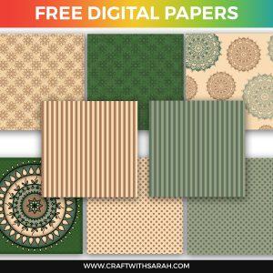 Earth Mandala Scrapbook Papers