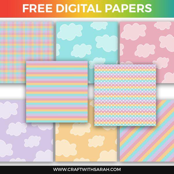 Pastel Clouds Scrapbook Papers