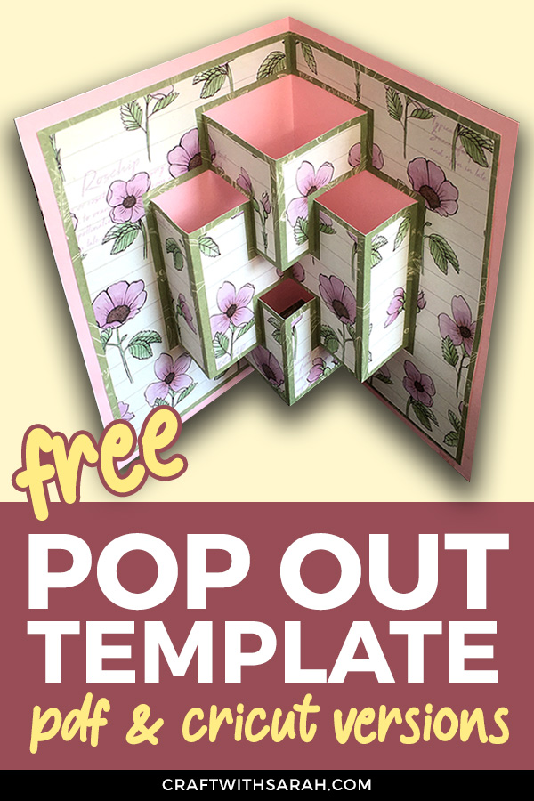 Make your own pop out card with this fun template! The FREE template comes in both PDF format (to cut out by hand) AND a Design Space project for easy cutting on Cricut machines – woohoo! #cricut #cardmaking