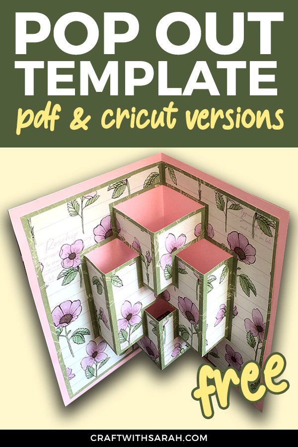 Free pop out card template. Comes in PDF and Cricut Design Space versions. Download your free pop out card template today!