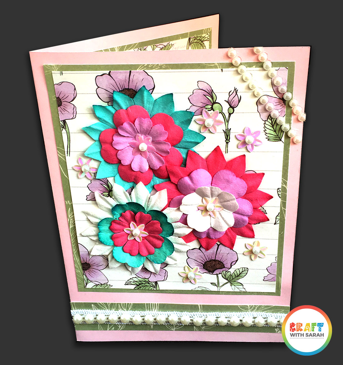 Decorated front of a pop out card