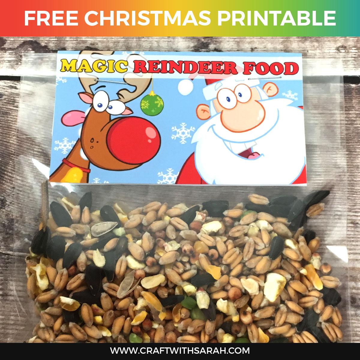 Magic Reindeer Food Printable