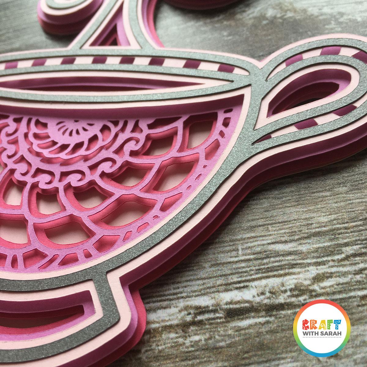 Mandala teacup close up