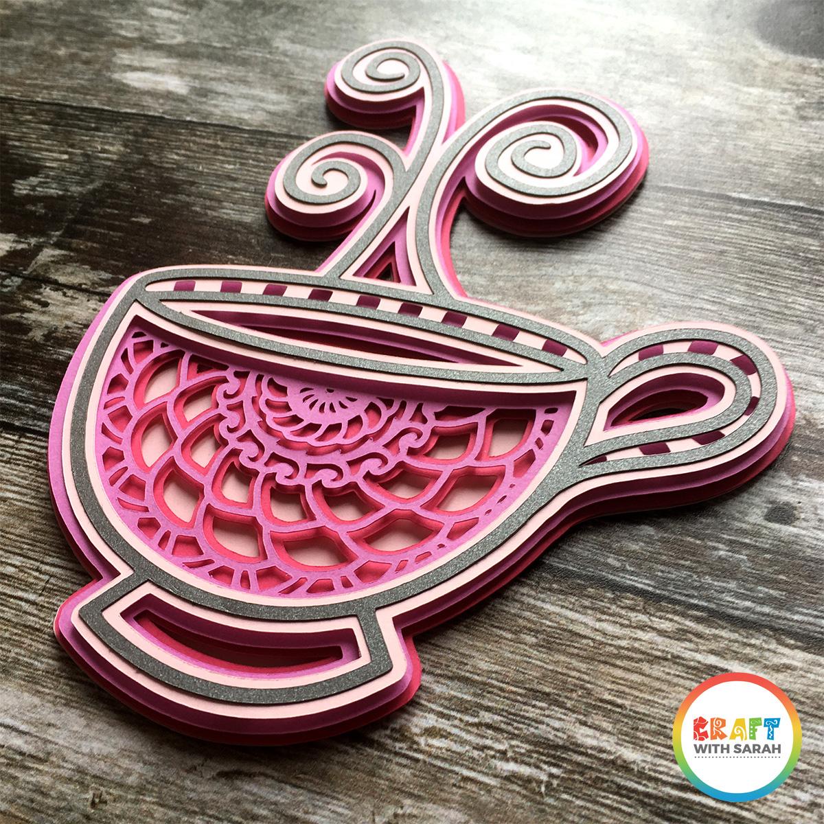Mandala teacup SVG