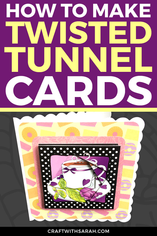 Twisted tunnel topper card making tutorial. Watch the video to find out how to make a twisted tunnel topper handmade card!