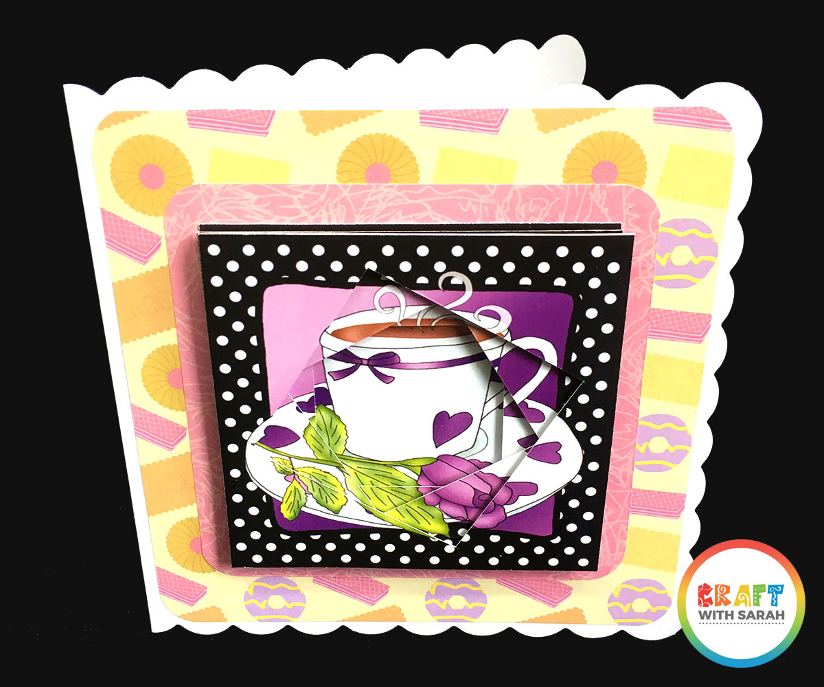 Twisted tunnel topper handmade card