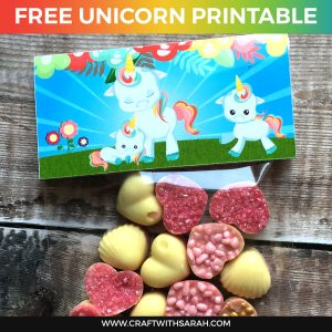 Unicorn Party Bag Printable