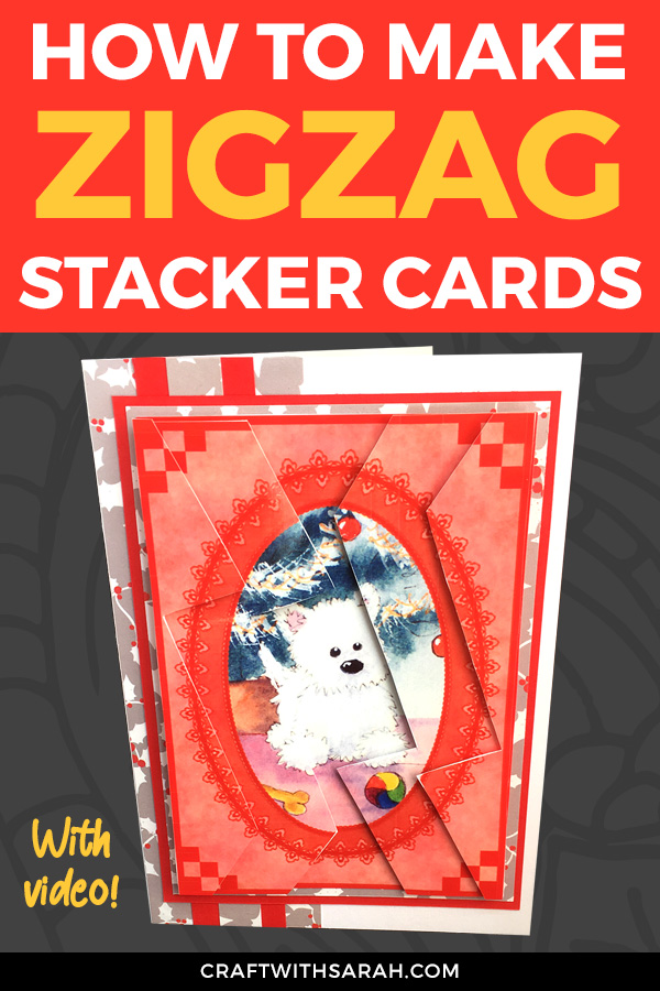 Learn how to make a zigzag stacker card here! An easy and FUN card making technique for your handmade cards.
