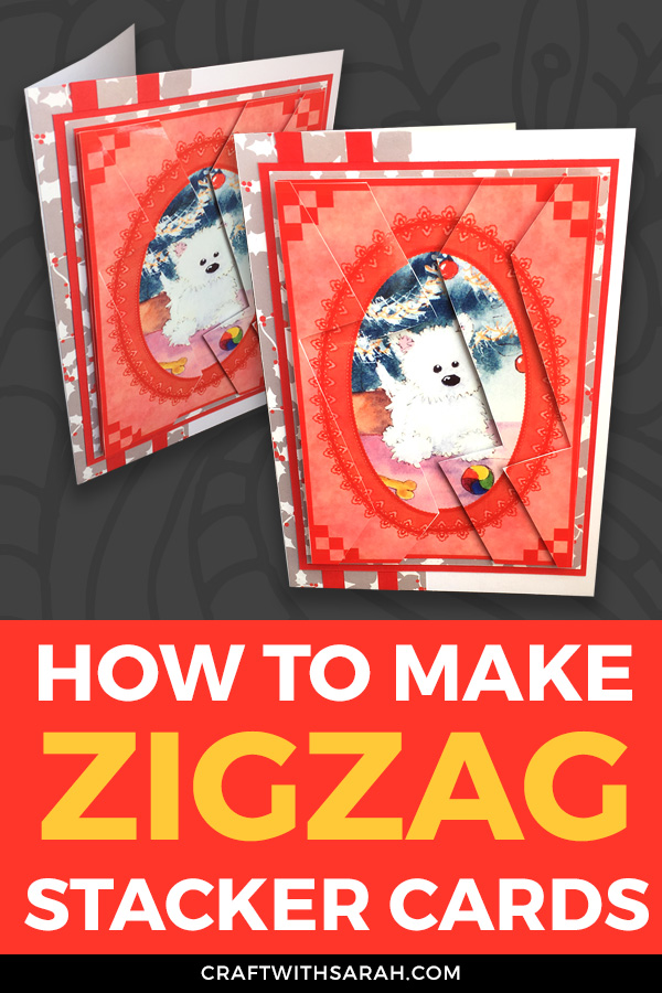 Zigzag stackers are made in a similar way to traditional pyramage cards. Grab your FREE card making printables here and watch the video tutorial for how to make zig zag stackers.