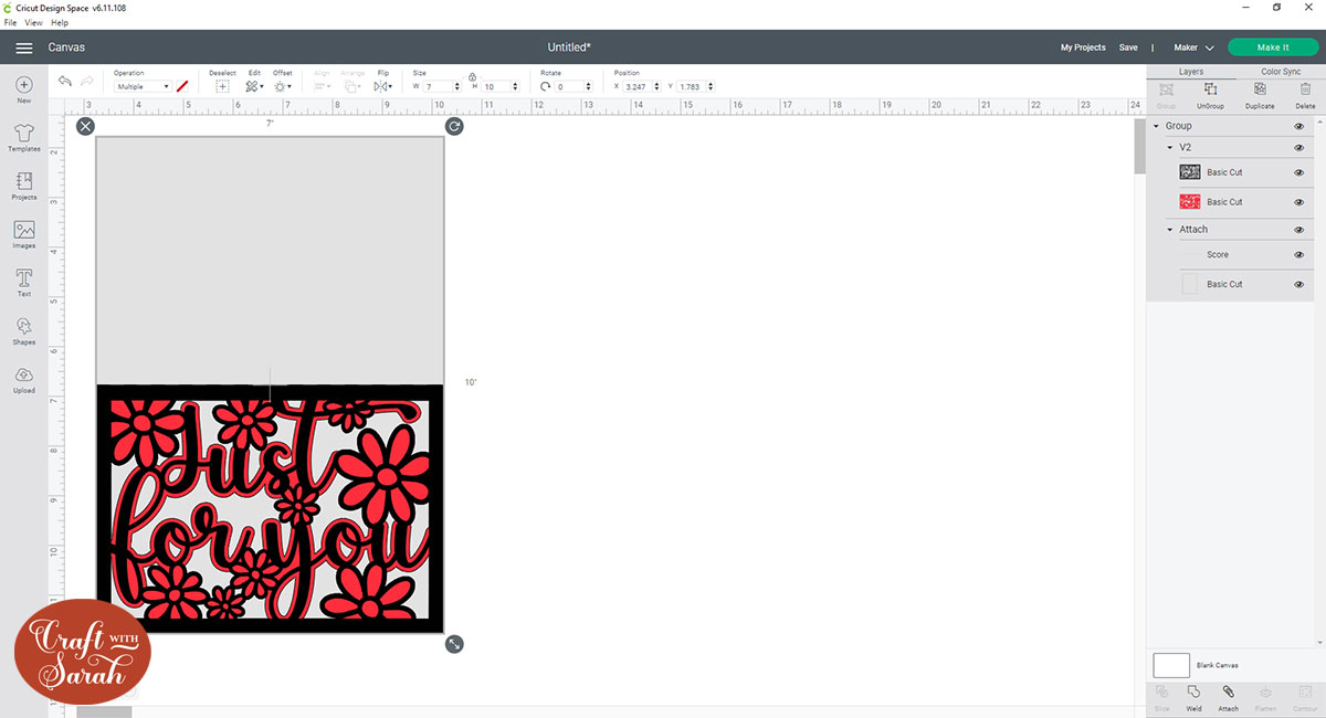 5x7 inch card template