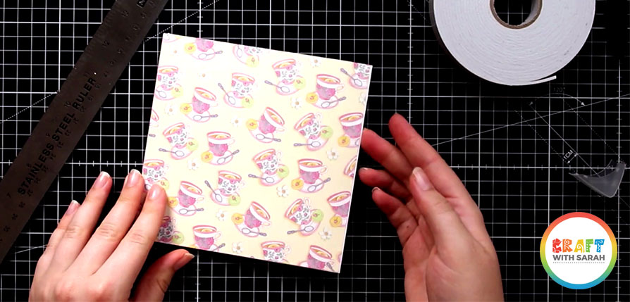 Stick scrapbook paper to your card front