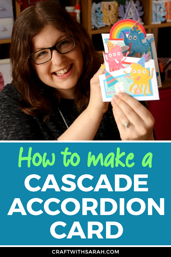 Make a Cascade Accordion Card with this easy card making tutorial. Cutting it out on your Cricut machine makes this SUCH a simple card to make, but it looks amazing!