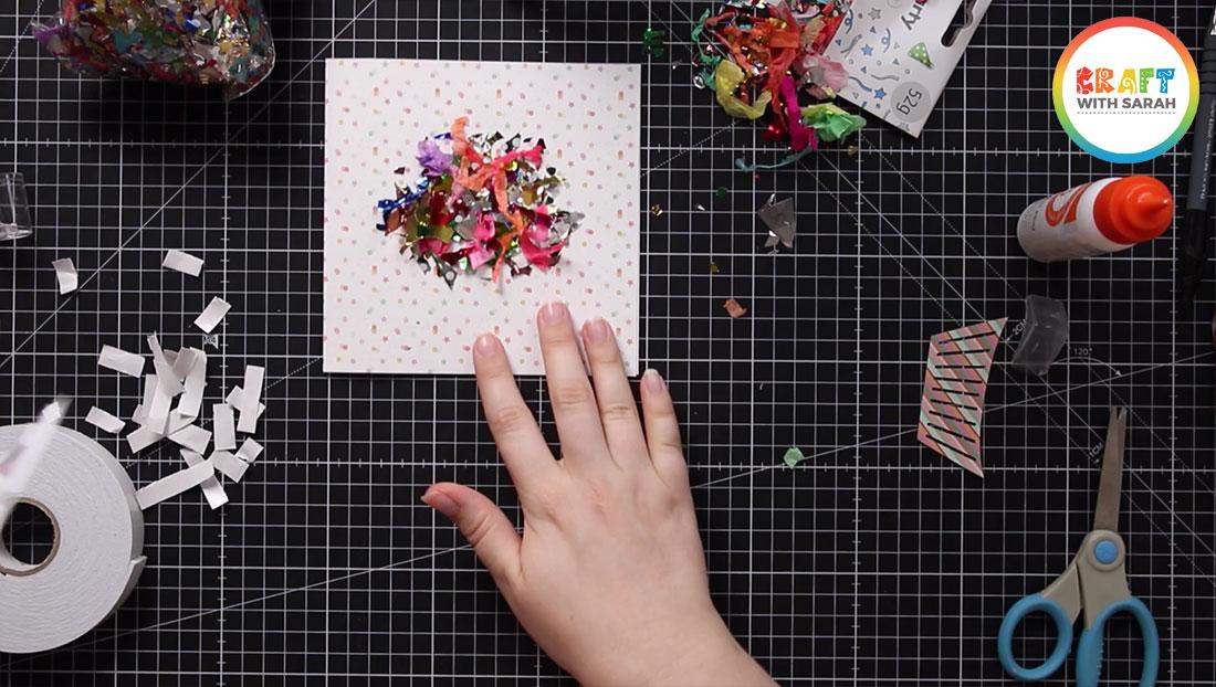 Confetti in shaker card