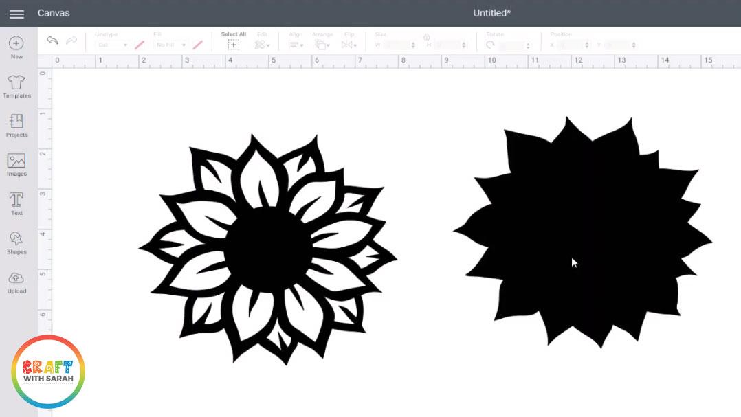 Contoured sunflower shape