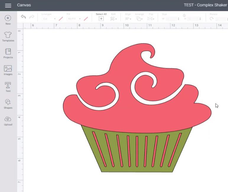 Cricut cupcake image