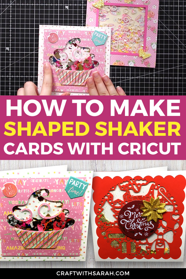 How to make a shaped shaker card using a Cricut Machine. This is part 2 in my 4-part series on creating fun shaker cards with your Cricut. #cricut