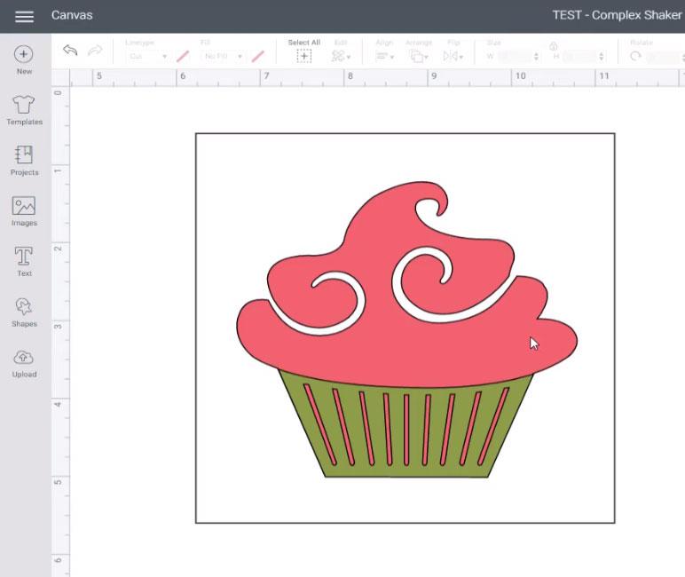 Cupcake in square