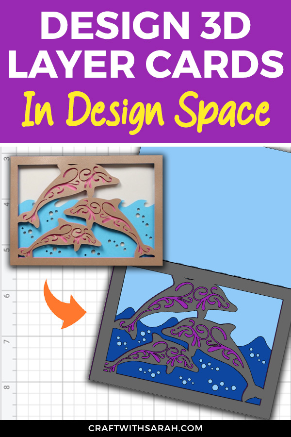 Learn how to design your own 3D layered cards in Cricut Design Space. 3D Layered Card Instructions for Design Space Cricut crafts.