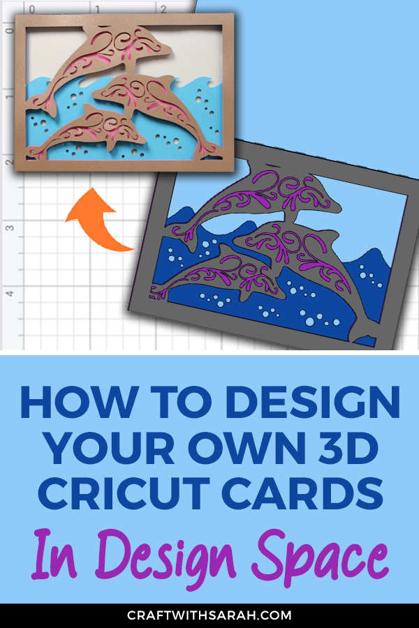 How to design a 3D layered card with your Cricut. Watch the video in this post to find out how to design your own 3D layered cards in Design Space.