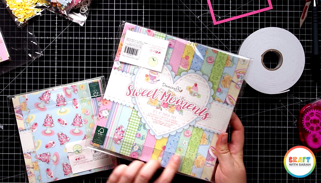 Covecraft Sweet Moments scrapbook paper collection